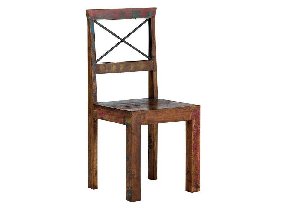 massivum Stuhl aus Hartholz massiv »Cruzar« in bunt
