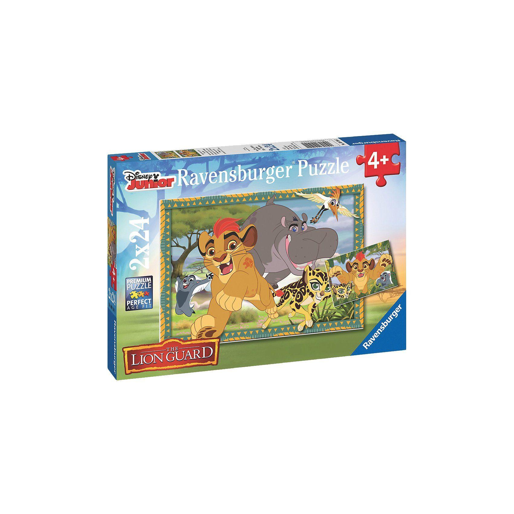 Ravensburger Puzzle Garde der Löwen: Abenteuer in der Savanne 2 x 24 Teil