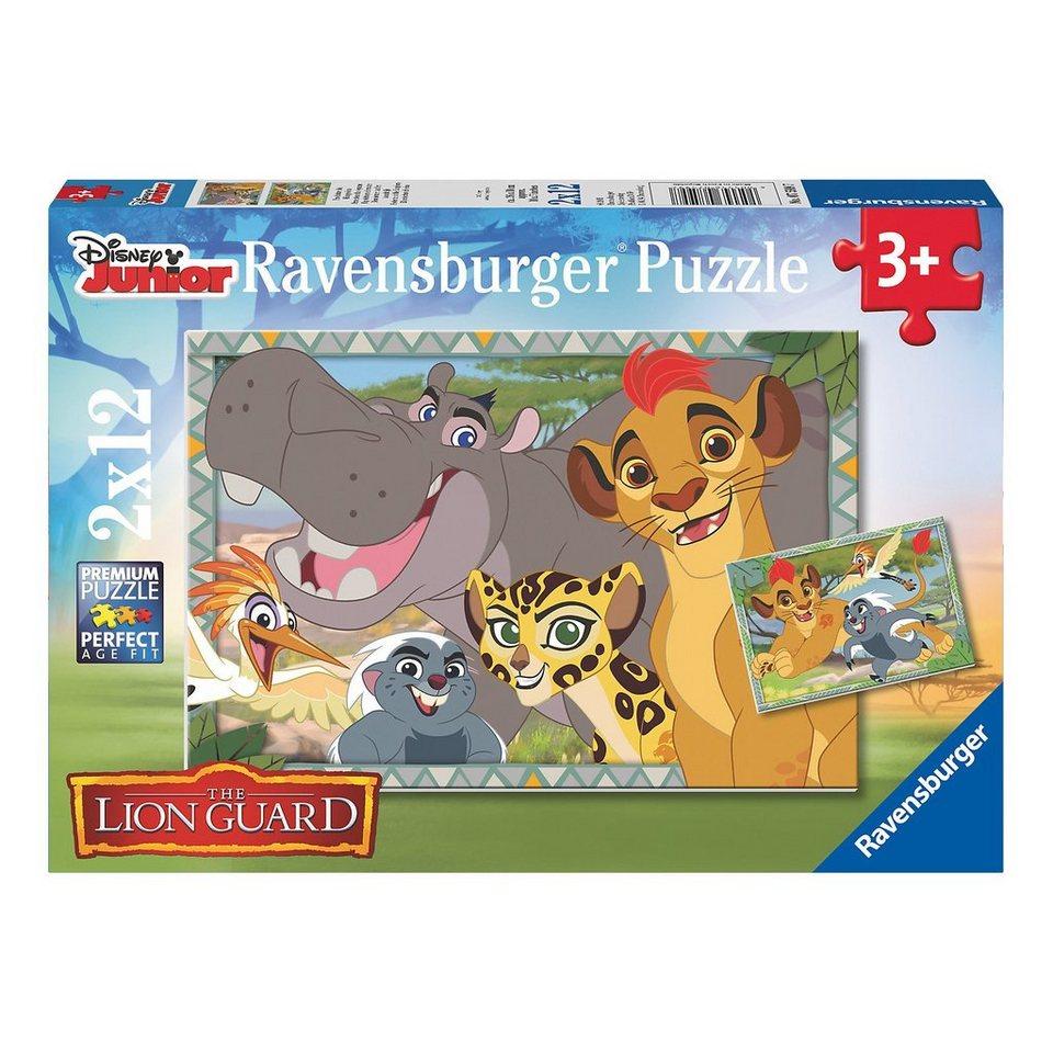 Ravensburger Puzzleset Garde der Löwen: Beschützer des Königreichs 2 x 12