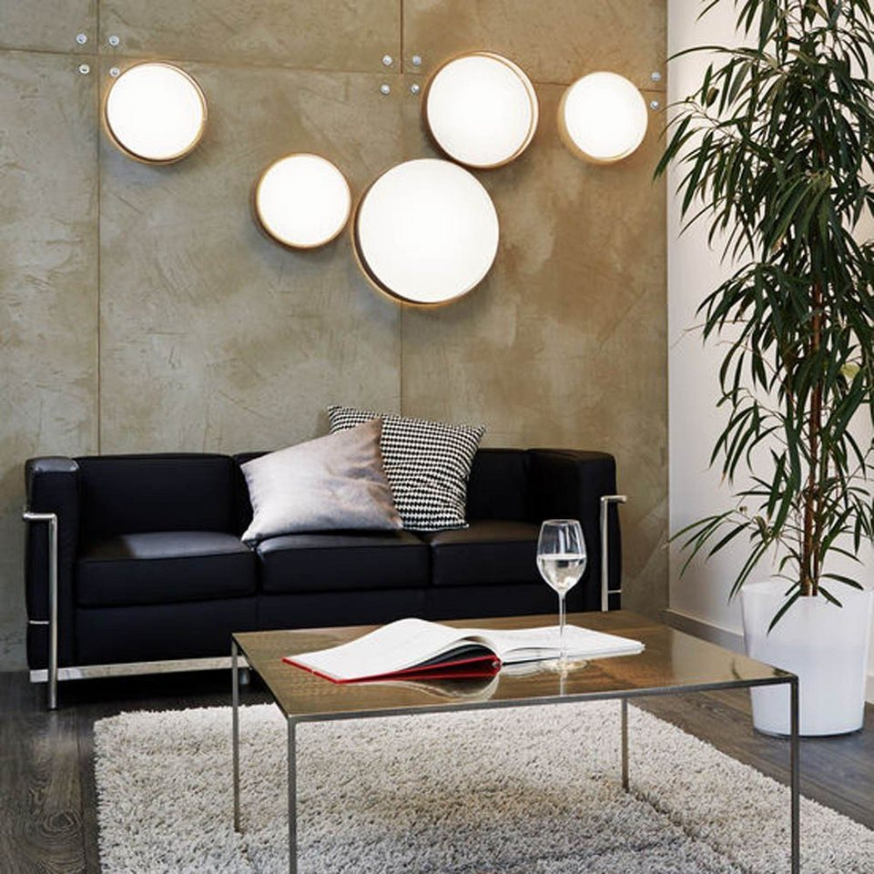 Licht-Trend Deckenleuchte »Palo LED-Decken- oder Wandleuchte mit Textilschirm« in Weiß