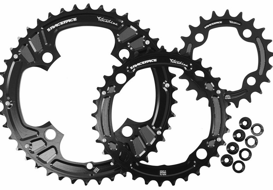 Race Face Kettenblatt »Turbine Chainring Set 4 Bolt 22/32/42 3x10 Speed«