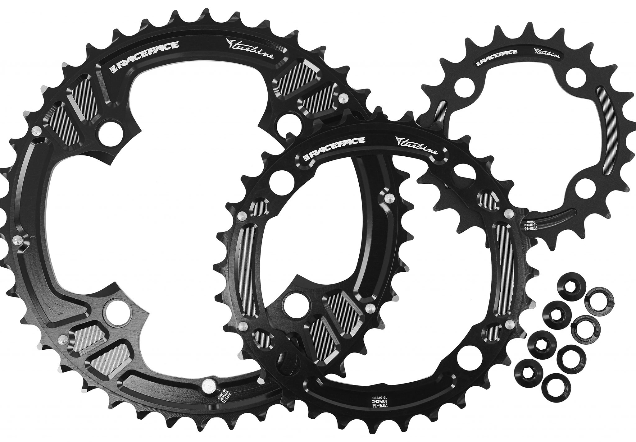 Race Face Kettenblatt »Race Face Turbine Chainring Set 4 Bolt 22/32/42«