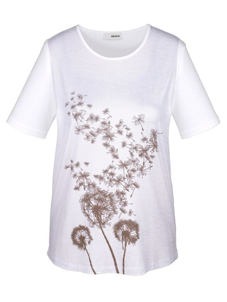 MIAMODA Shirt in weiß/camel