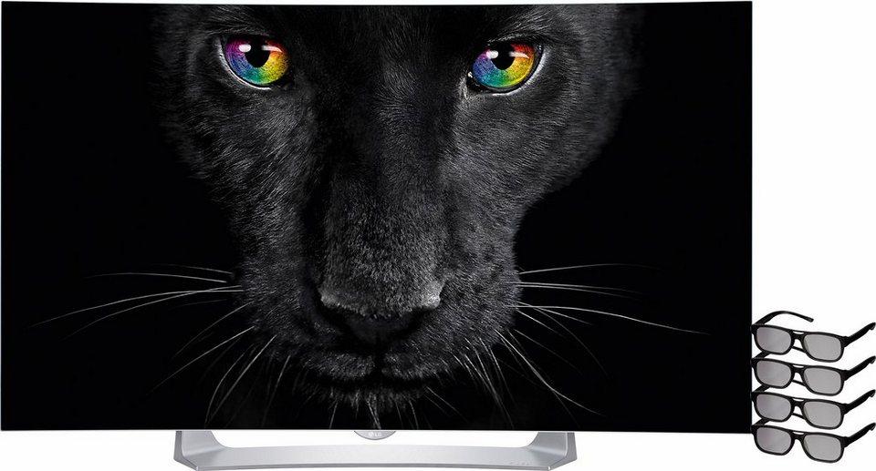 LG 55EG9109, Curved-OLED-Fernseher, 139 cm (55 Zoll), 1080p (Full HD), Smart-TV in silberfarben