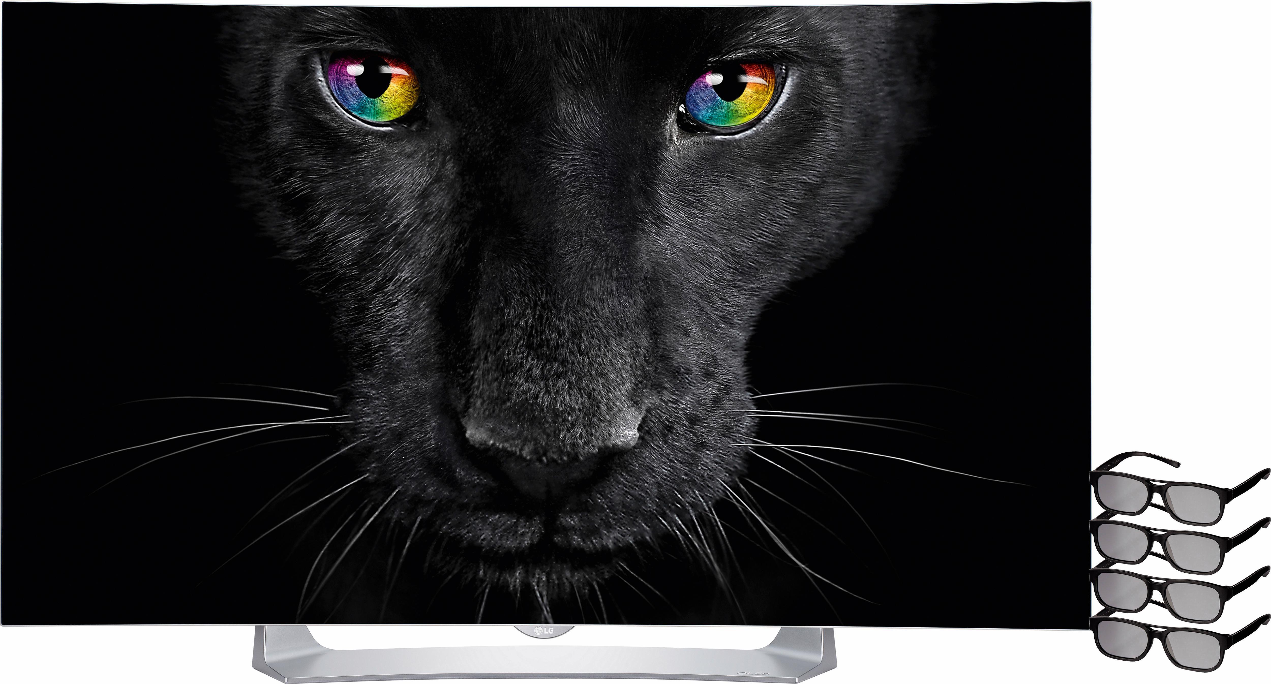 LG 55EG9109, Curved-OLED-Fernseher, 139 cm (55 Zoll), 1080p (Full HD), Smart-TV