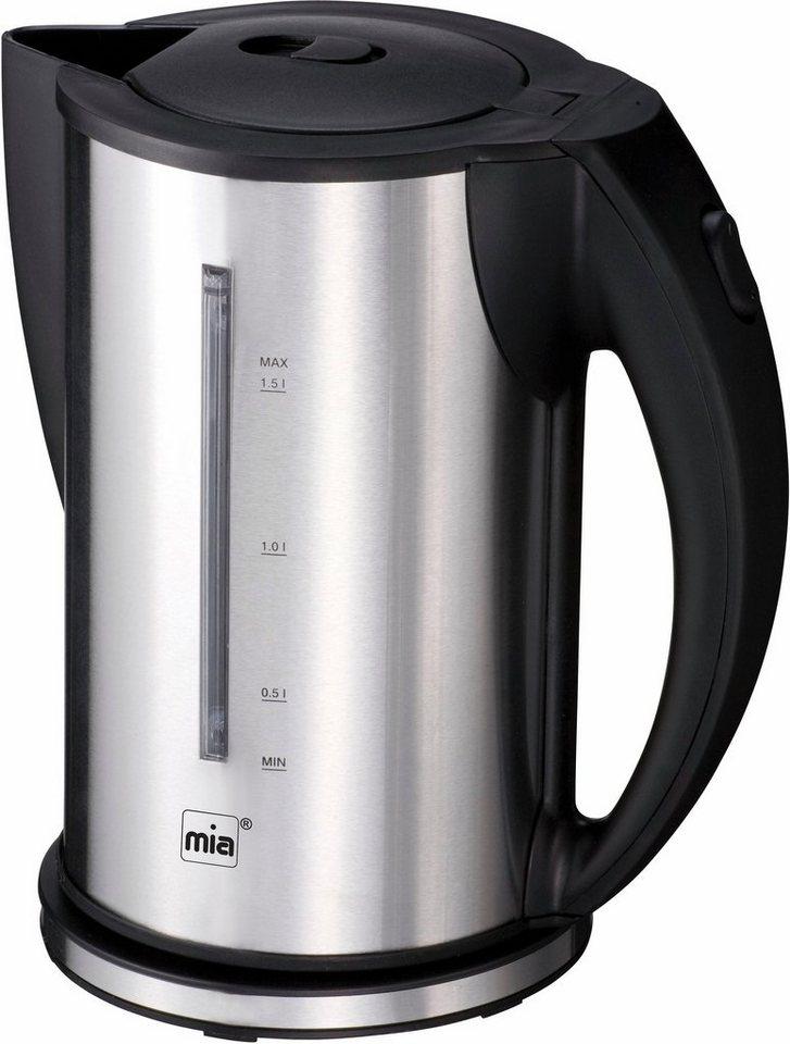 Mia Wasserkocher EW 3672, 1,5 Liter, 2200 Watt in schwarz