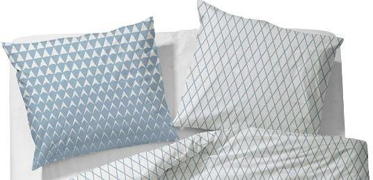 Kissenbezug, Esprit, »Mina«, im Rauten Design in blau