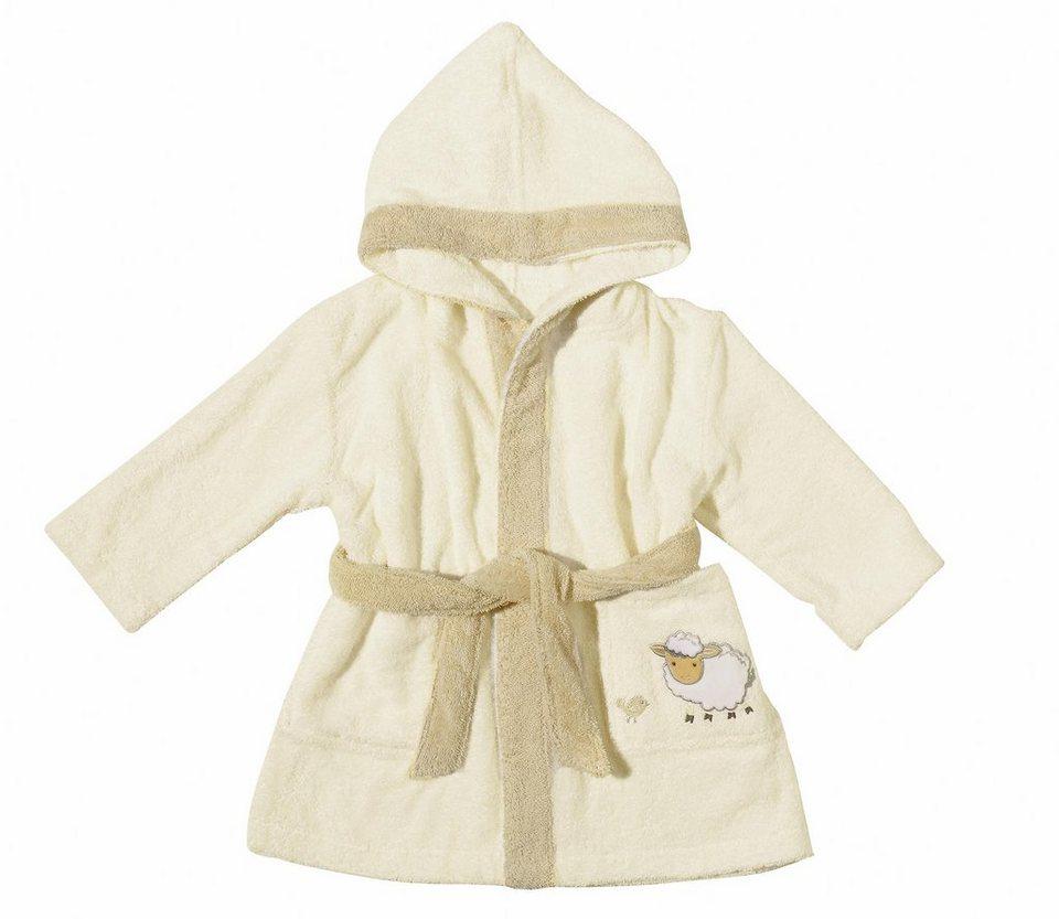 Babybademantel, Egeria, »Sheep«, mit kleiner Stickerei in beige