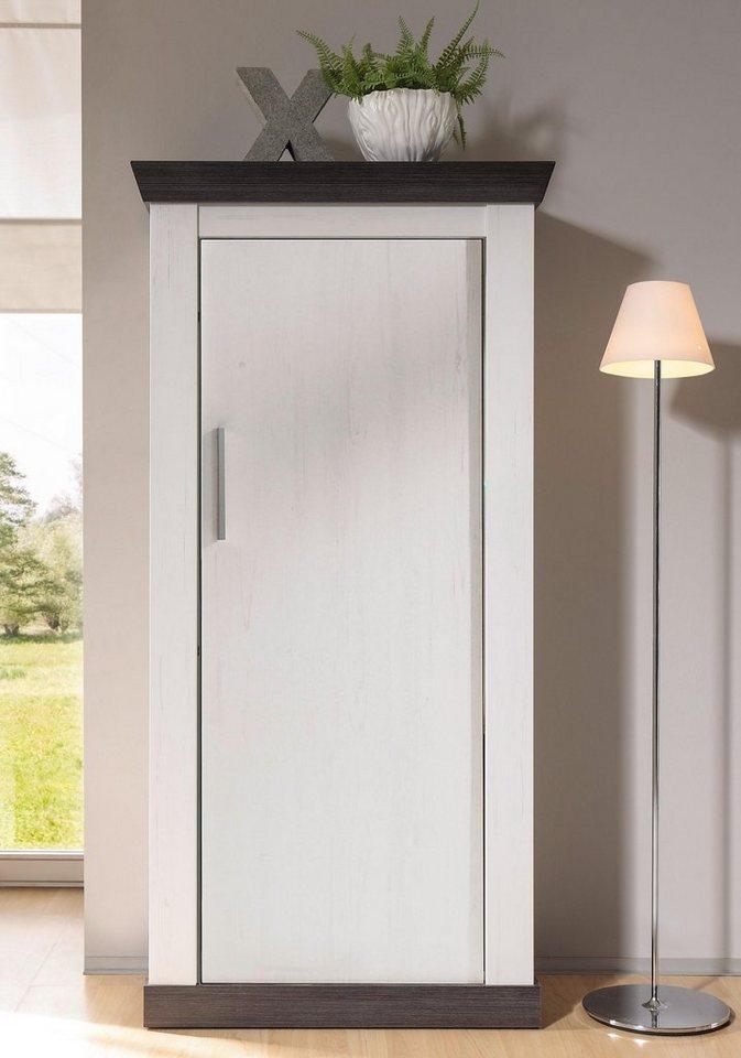 Home affaire Kommode »Siena«, Breite 72 cm in Pinie weiß/wengefarben