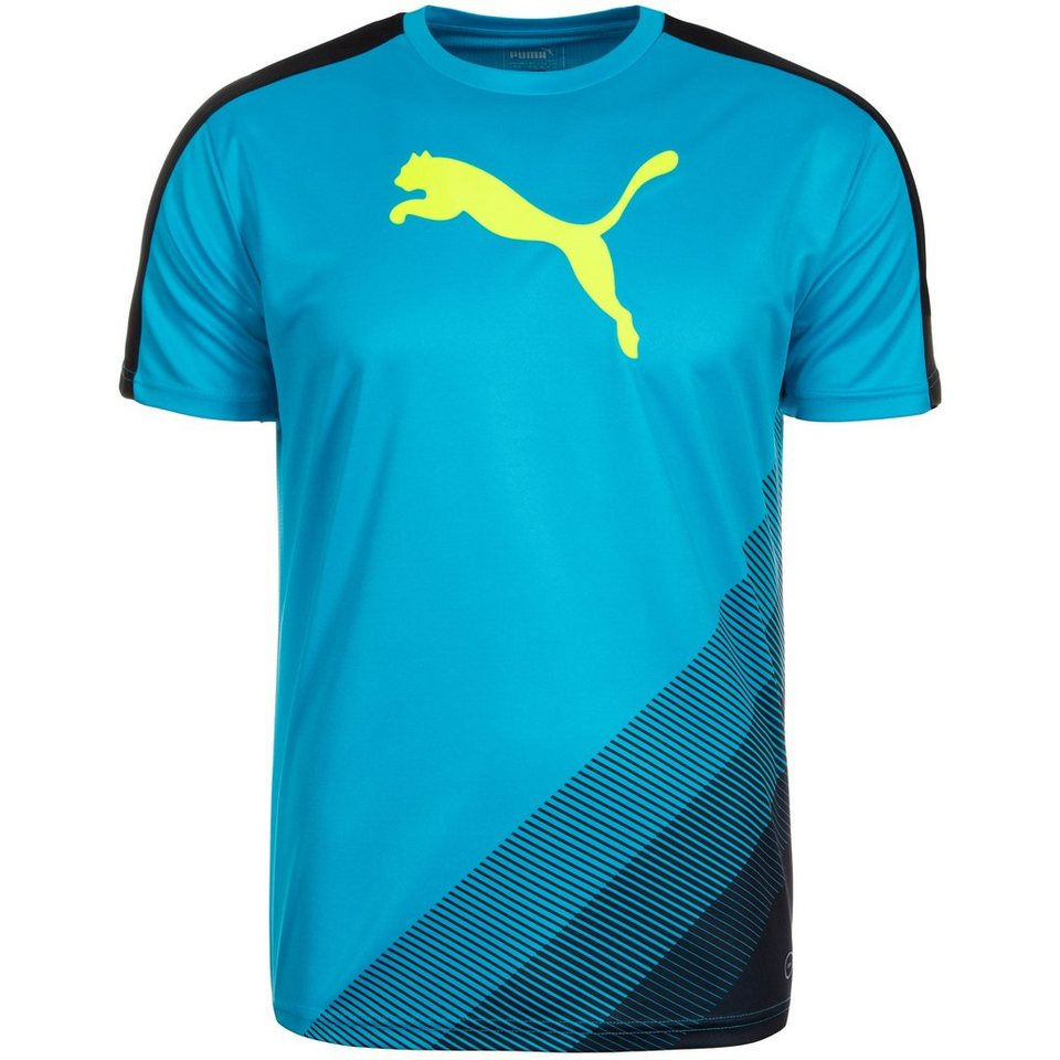 PUMA IT evoTRG Cat Trainingsshirt Herren in blau / schwarz / gel