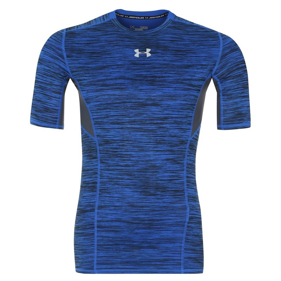 Under Armour® HeatGear CoolSwitch Compression Trainingsshirt Herren in blau / grau
