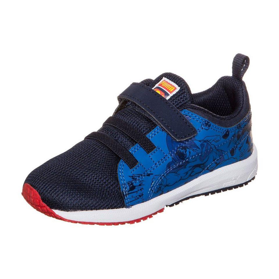 PUMA Carson Runner Superman V Sneaker Kleinkinder in dunkelblau / blau