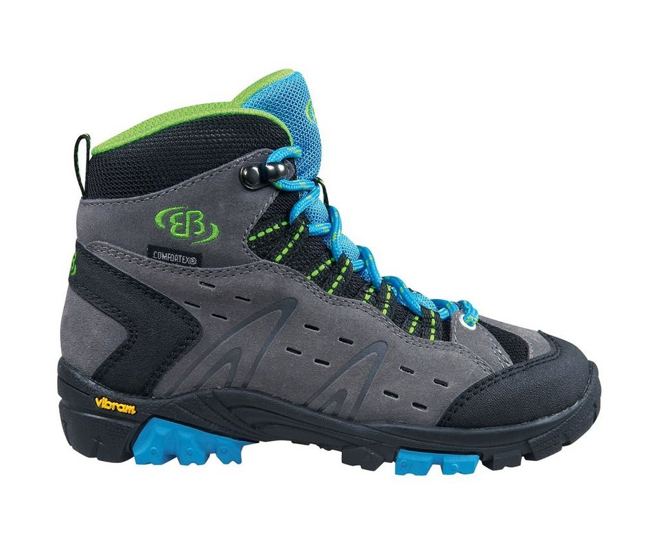 Brütting Outdoorstiefel »MOUNT BONA HIGH KIDS« in grau/blau/lemon