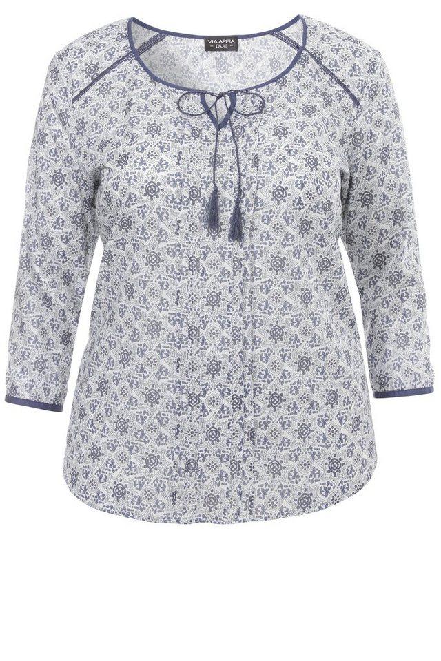 VIA APPIA DUE Baumwoll-Bluse »mit floralem Muster« in KORNBLUME MULTICOLOR