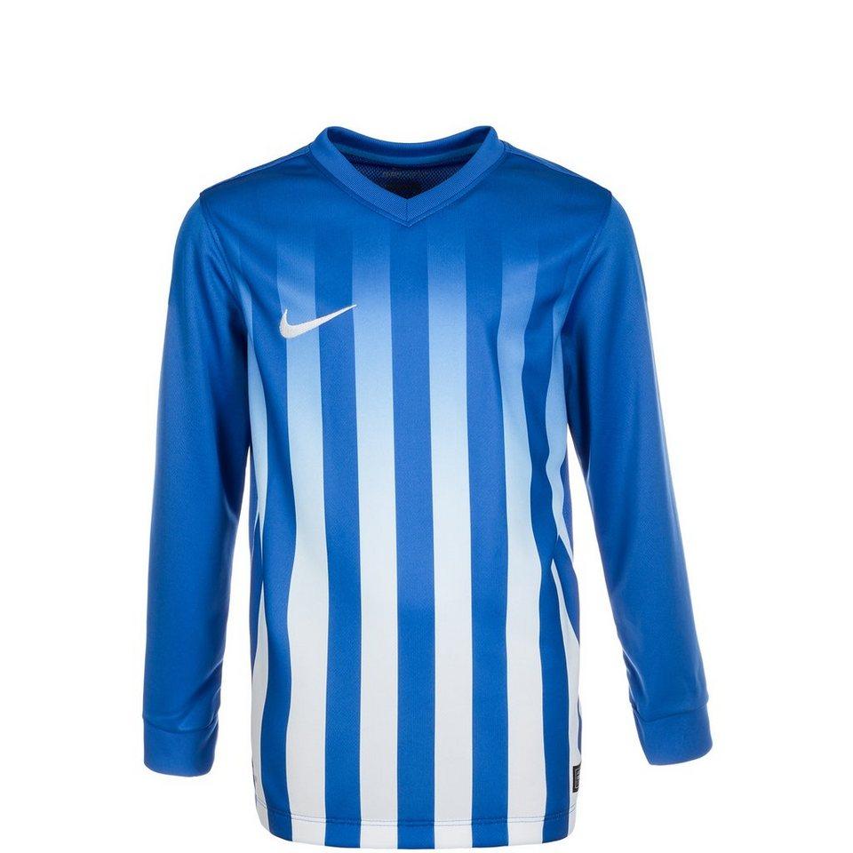 NIKE Striped Division II Fußballtrikot Kinder in blau / weiß