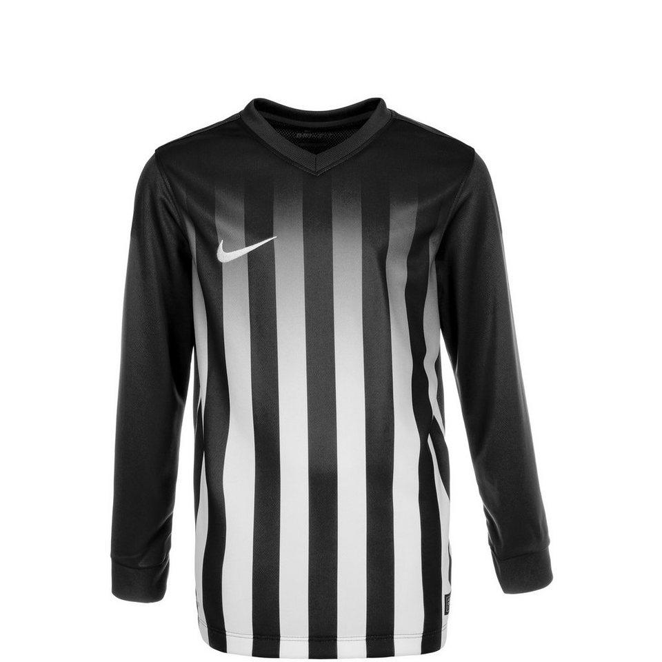 NIKE Striped Division II Fußballtrikot Kinder in schwarz / weiß