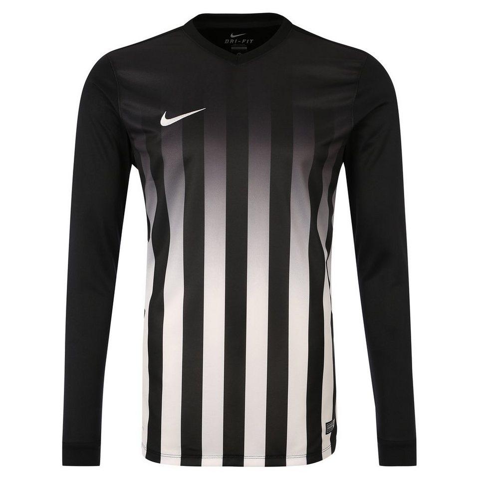 NIKE Striped Division II Fußballtrikot Herren in schwarz / weiß