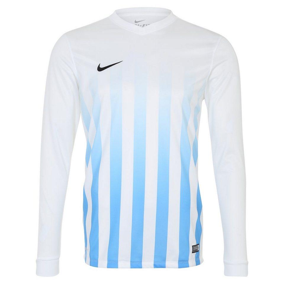 NIKE Striped Division II Fußballtrikot Herren in weiß / blau / schwar