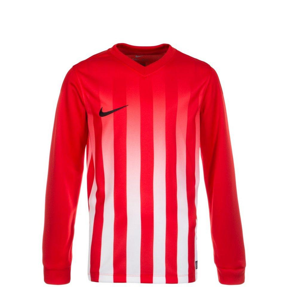 NIKE Striped Division II Fußballtrikot Kinder in rot / weiß / schwarz