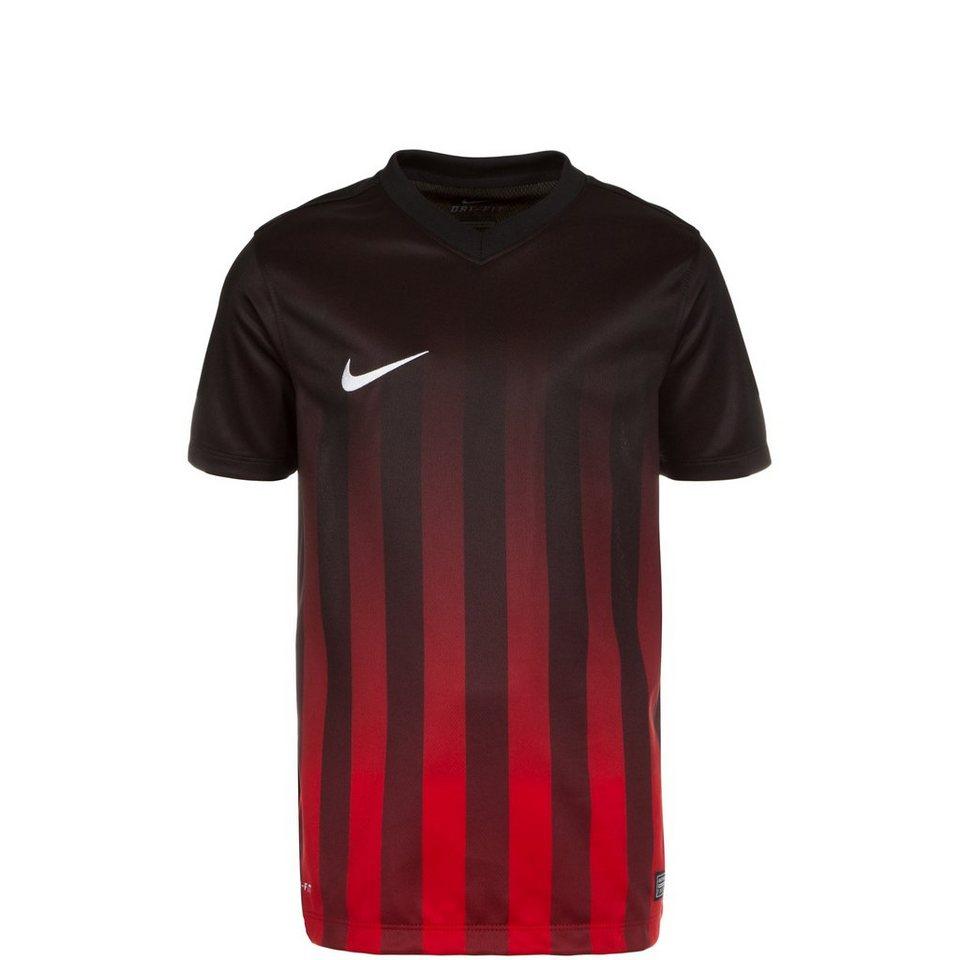 NIKE Striped Division II Fußballtrikot Kinder in schwarz / rot / weiß