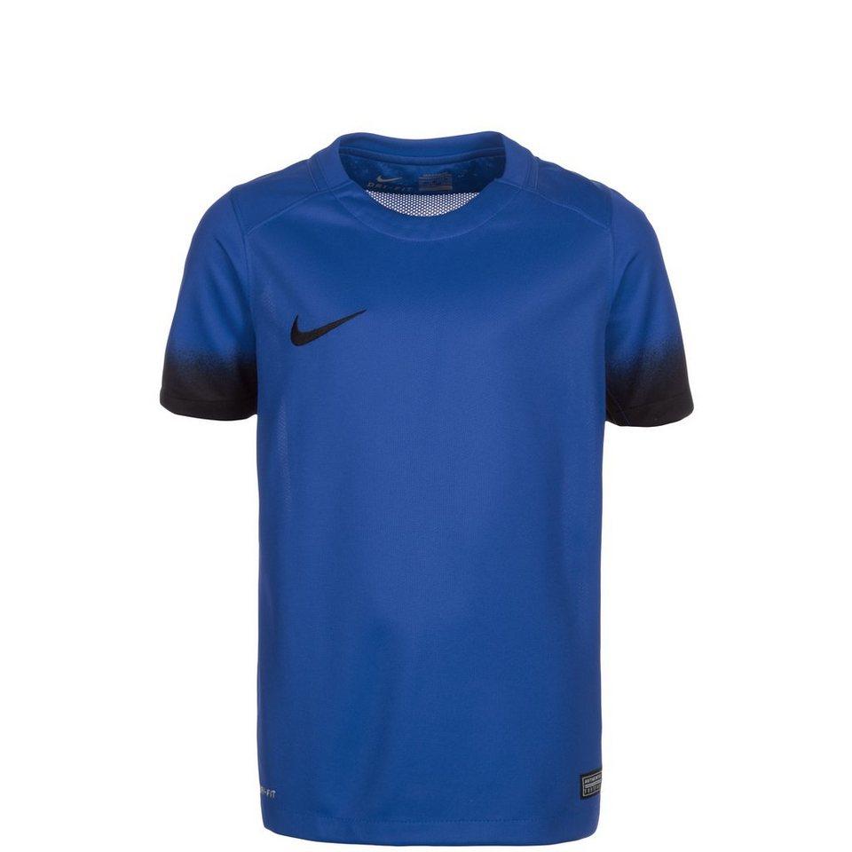 NIKE Laser Print III Fußballtrikot Kinder in blau / schwarz