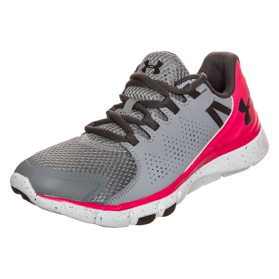 Under Armour® Micro G Limitless Trainingsschuh Damen in grau / rot / weiß