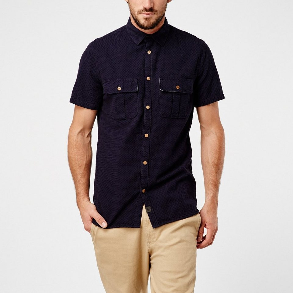 O'Neill Hemd kurzärmlig »Pins« in Blau gemustert