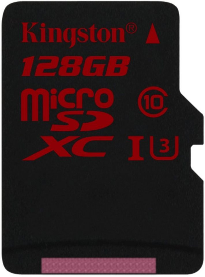 Kingston Speicherkarte »microSDXC Class 10 UHS-3 ohne Adapter, 128GB« in Schwarz-Rot