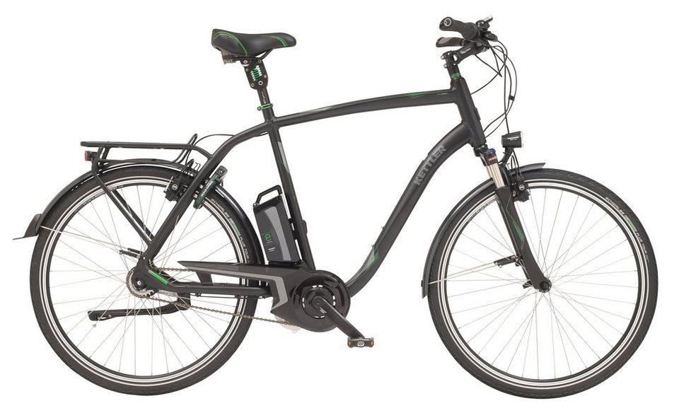 Kettler City E-Bike Herren, Mittelmotor 36V/250W, 28 Zoll, 8 Gang-Shimano, »City HDE Comfort« in graphite, matt