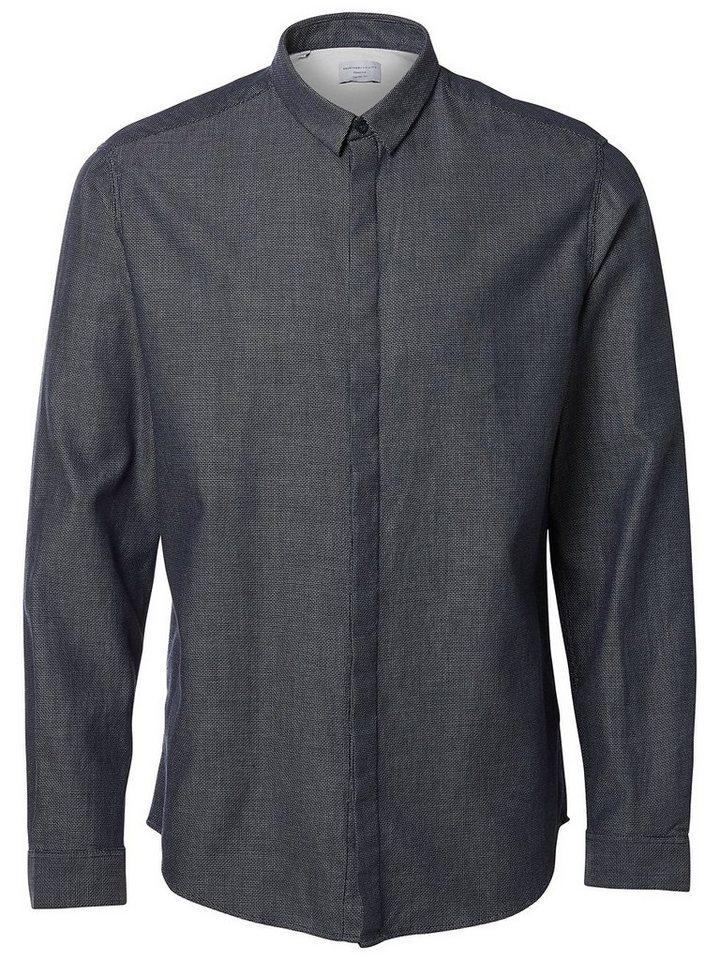 Selected Regular-Fit- Hemd in Dark Sapphire