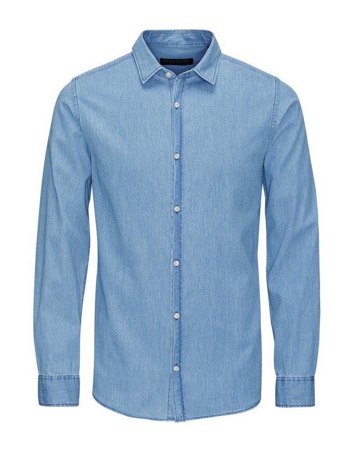 Jack & Jones Markantes Jeans- Langarmhemd in Light Blue Denim
