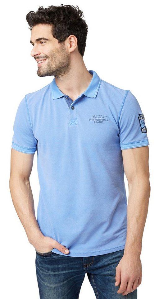 TOM TAILOR Poloshirt »Polo-Shirt im Vintage-Look« in Bonnet Blue