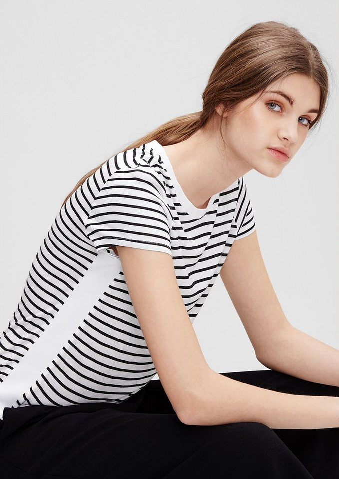s.Oliver Denim Streifenshirt im sportlichen Stil in black stripes