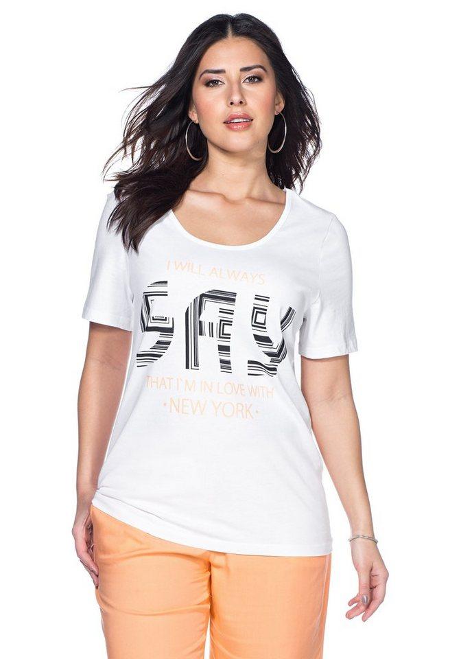 sheego Trend T-Shirt in weiß