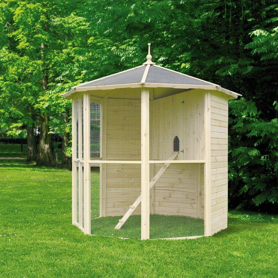 promadino voliere 8 eck mit vogelk fig b t h 232 232 250 cm online kaufen otto. Black Bedroom Furniture Sets. Home Design Ideas
