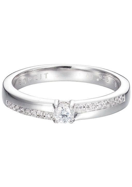 Esprit Ring mit Zirkonia, »ESPRIT-JW50231, ESRG92753A« in Silber 925