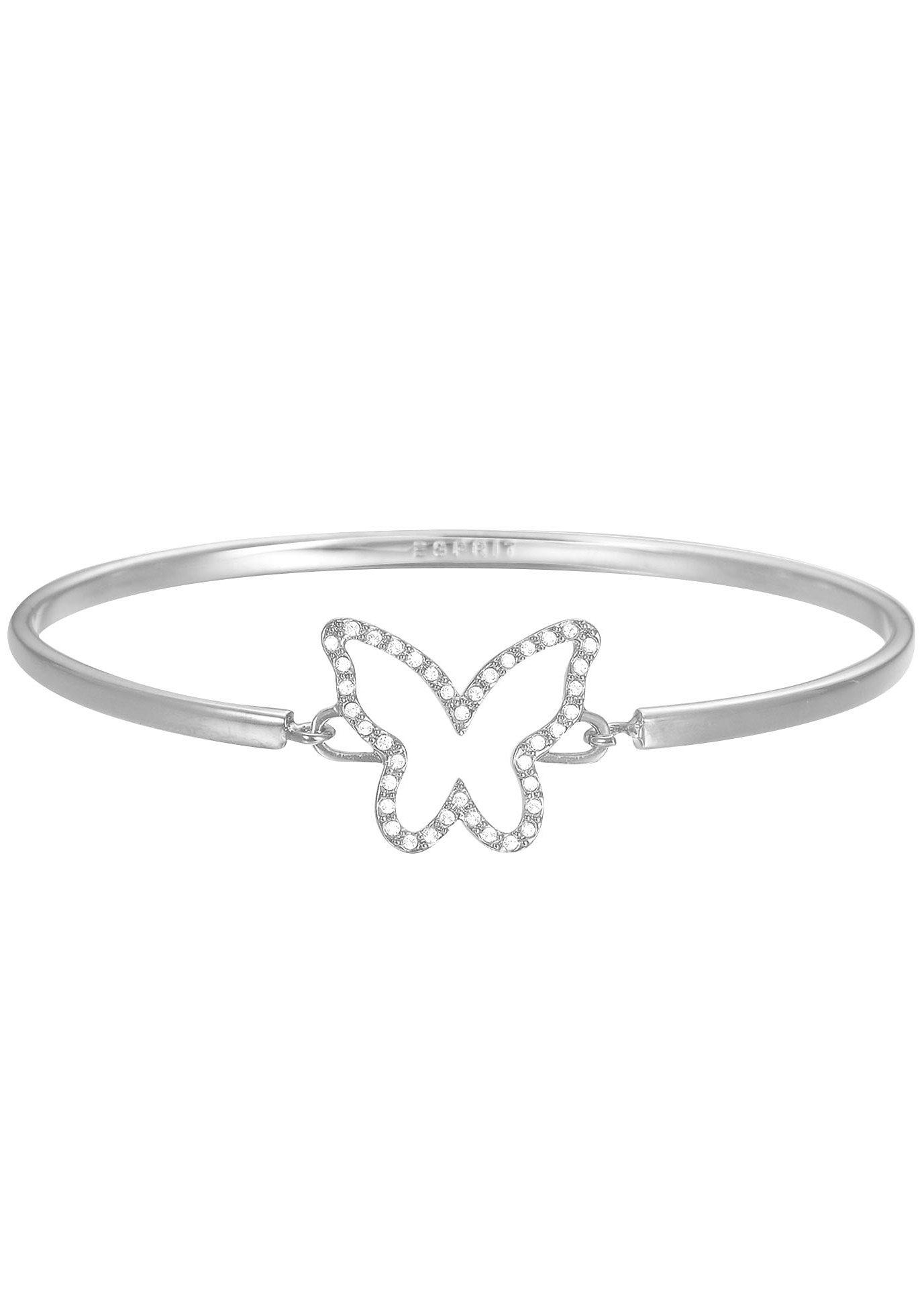 Esprit Armreif mit Strasssteinen, »Schmetterling, ESPRIT-JW50219, ESBA01179A600«