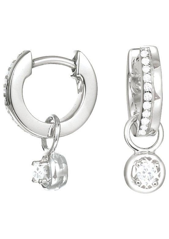 Esprit Paar Creolen abnehmbare Einhänger mit Zirkonia, »ESPRIT-JW50231, ESCO91964A000« in Silber 925