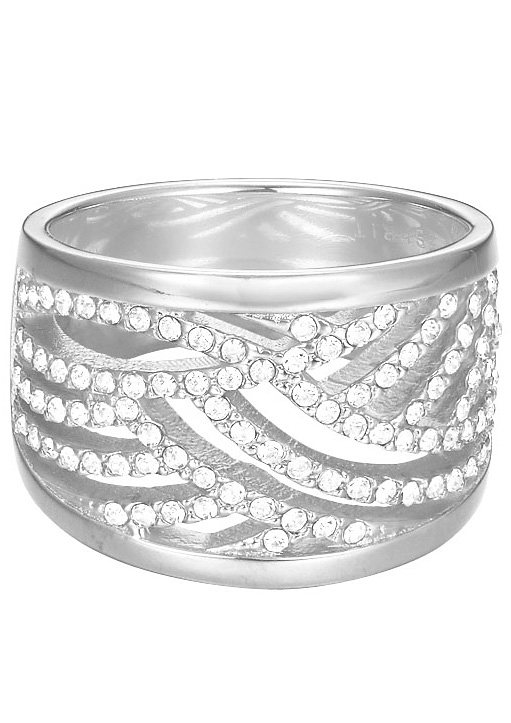 Esprit Ring mit Strasssteinen, »ESPRIT-JW50236, ESRG02688A« in silberfarben