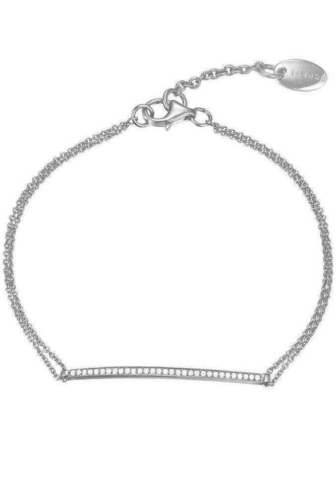 Esprit Armband mit Zirkonia, »ESPRIT-JW50217, ESBR91786A160« in Silber 925