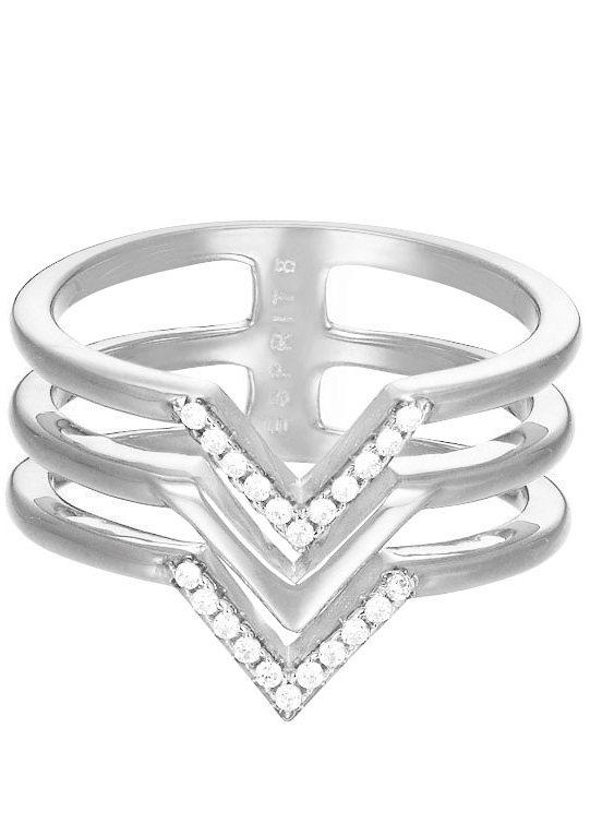 Esprit Ring mit Zirkonia, »ESPRIT-JW50215, ESRG02611A« in silberfarben