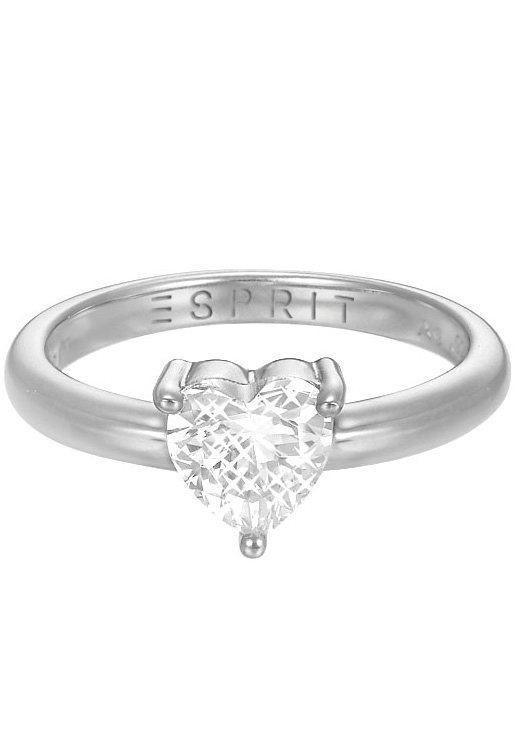 Esprit Ring mit Zirkonia, »Herz, ESPRIT-JW50223, ESRG92850A« in Silber 925