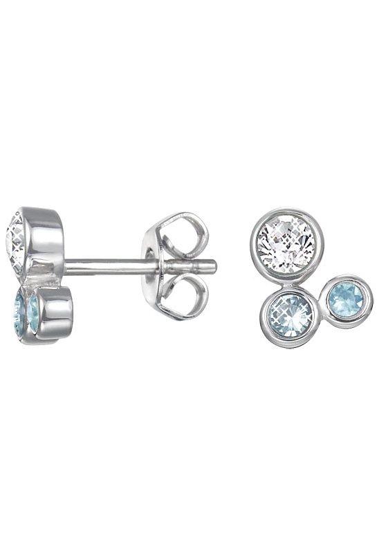 Esprit Paar Ohrstecker mit Glassteinen, »ESPRIT-JW50093, ESER92705D000« in Silber 925/blau