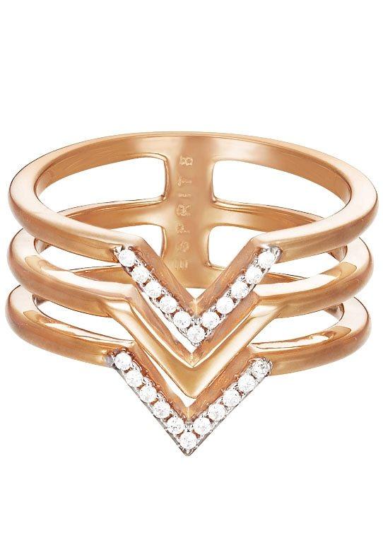 Esprit Ring mit Zirkonia, »ESPRIT-JW50215 Rose, ESRG02611D« in roségoldfarben/silberfarben