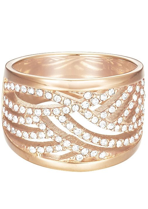 Esprit Ring mit Strasssteinen, »ESPRIT-JW50236 Rose, ESRG02688C« in roségoldfarben