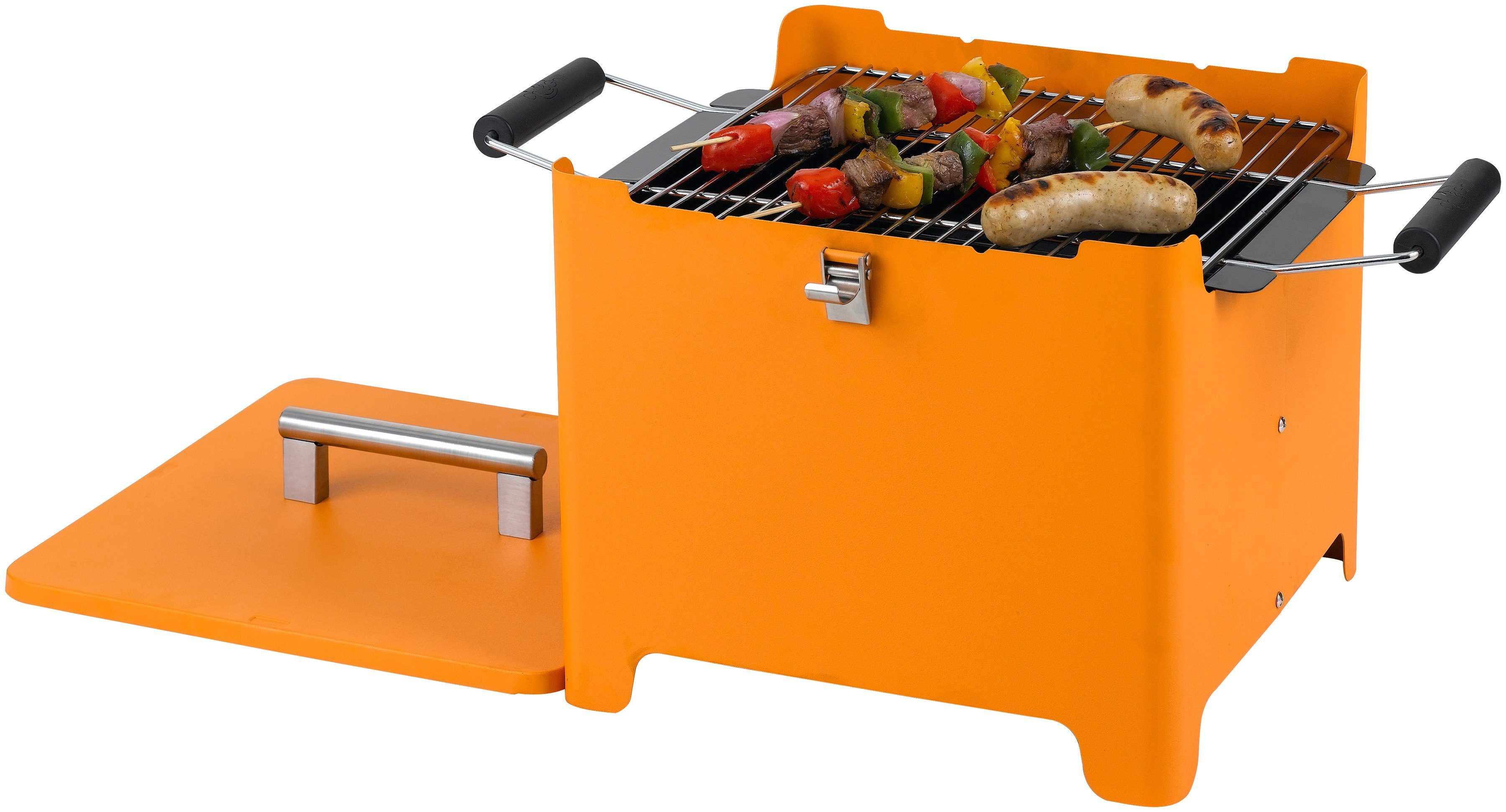 Holzkohlegrill »Chill&Grill Cube«, orange