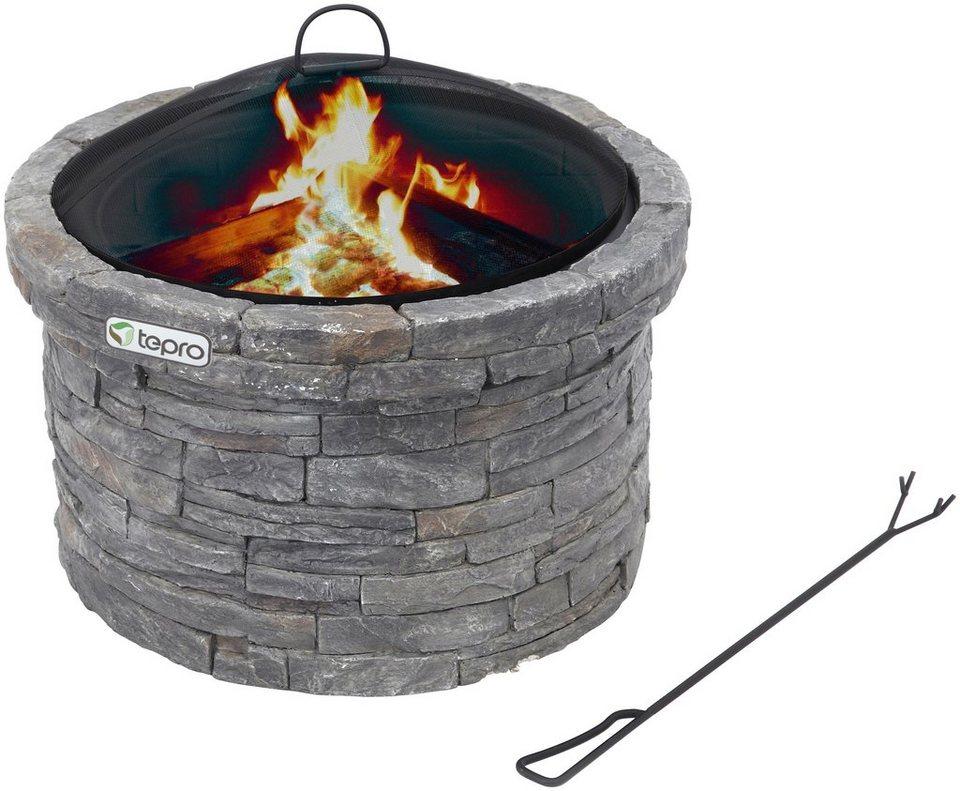 Feuerstelle »Gladstone« in grau