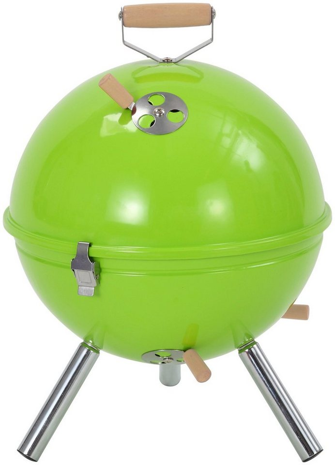 Holzkohlegrill »Crystal«, apfelgrün in grün