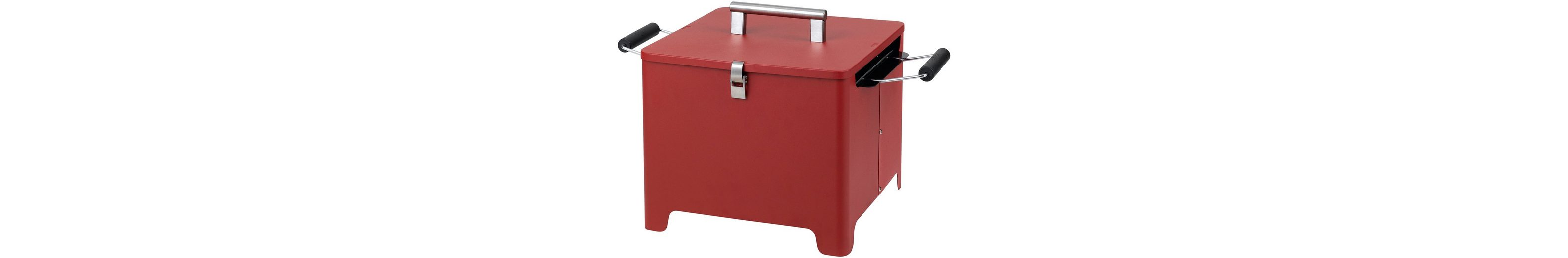 Holzkohlegrill »Chill&Grill Cube«, rot