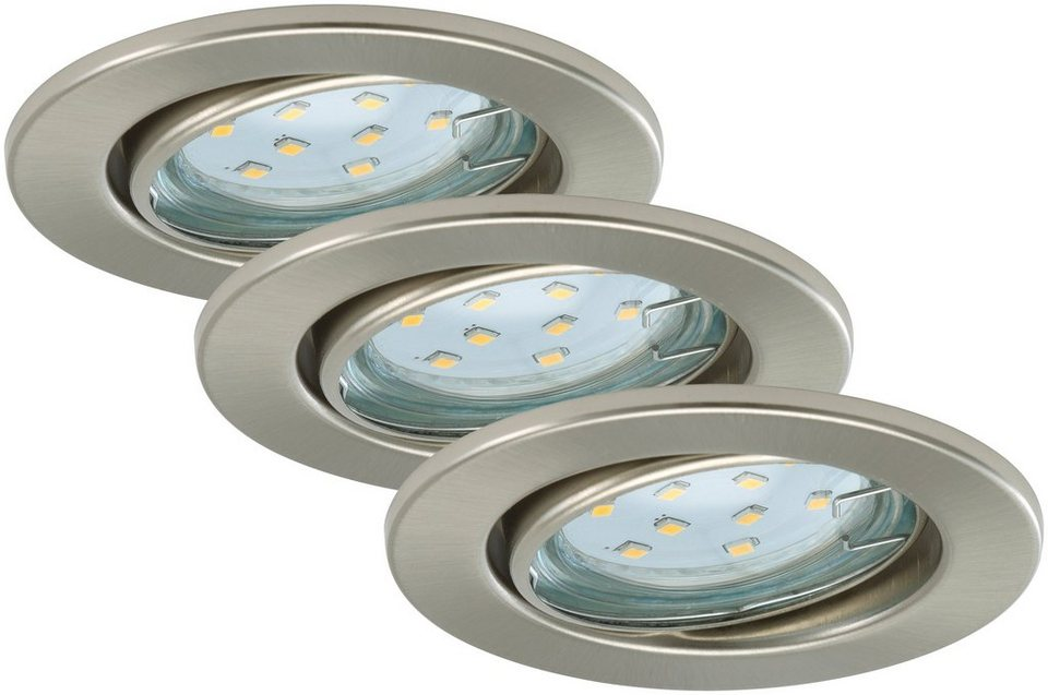 LED Einbauleuchten »Fit«, 3W, matt-nickel in grau